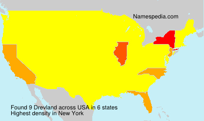 Surname Drevland in USA