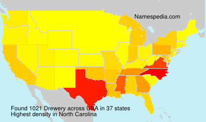 Surname Drewery in USA