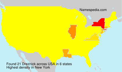 Surname Dreznick in USA