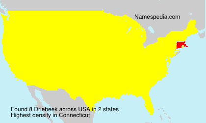 Surname Driebeek in USA