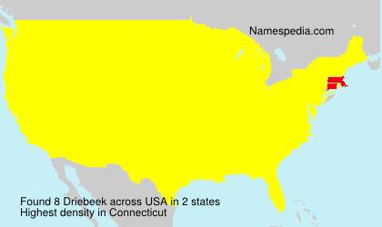 Surname Driebeek in USA