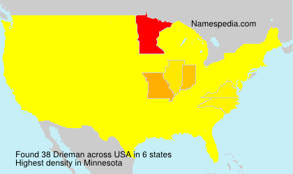 Surname Drieman in USA