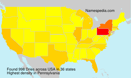 Surname Dries in USA