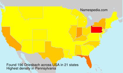 Surname Driesbach in USA