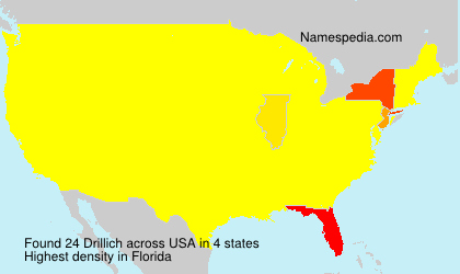 Surname Drillich in USA