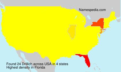 Surname Drillich in USA