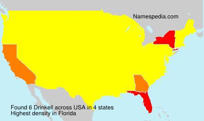Familiennamen Drinkell - USA
