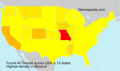 Surname Drissell in USA