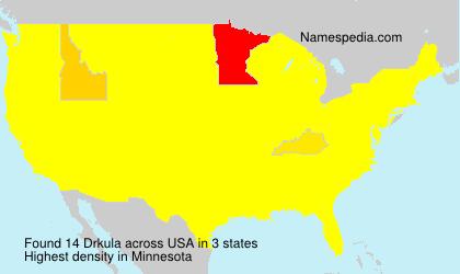 Surname Drkula in USA