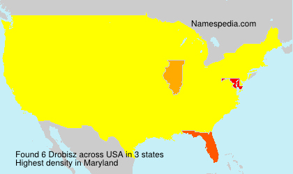 Surname Drobisz in USA