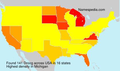 Familiennamen Droog - USA
