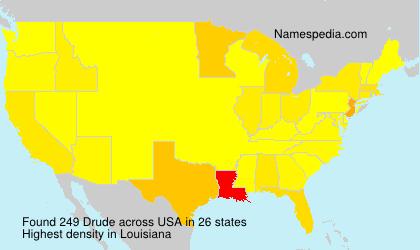 Familiennamen Drude - USA