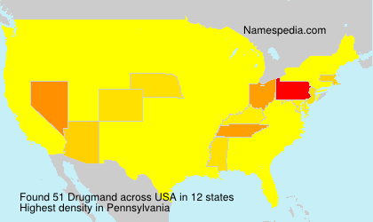 Surname Drugmand in USA