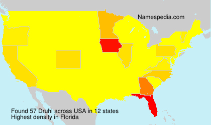 Surname Druhl in USA