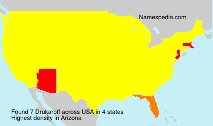 Surname Drukaroff in USA