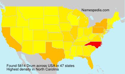 Surname Drum in USA