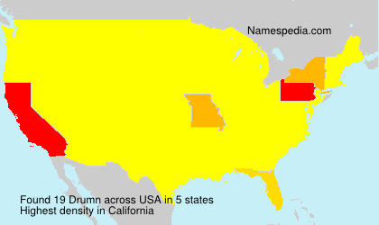 Surname Drumn in USA