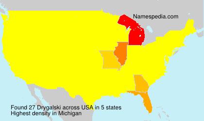 Familiennamen Drygalski - USA