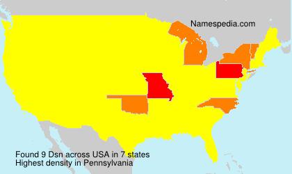 Familiennamen Dsn - USA