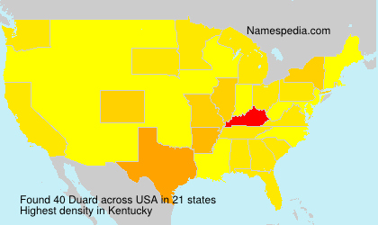 Surname Duard in USA