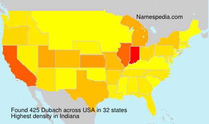 Surname Dubach in USA