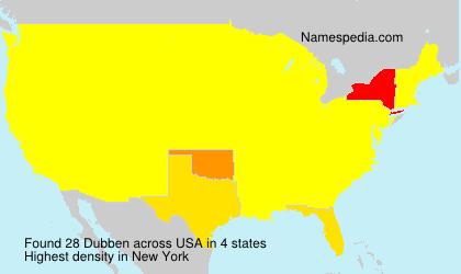Familiennamen Dubben - USA