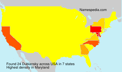 Surname Dubiansky in USA