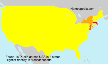 Surname Dubilo in USA