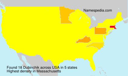 Familiennamen Dubinchik - USA