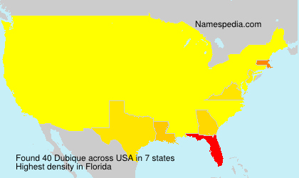 Surname Dubique in USA