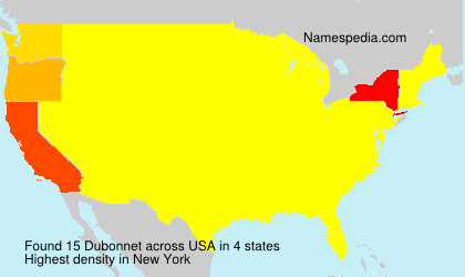 Surname Dubonnet in USA