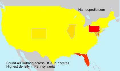 Surname Dubosq in USA