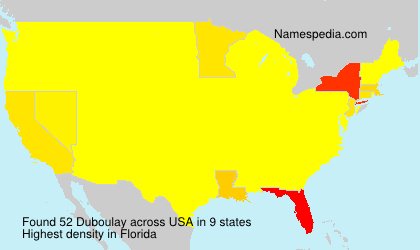 Surname Duboulay in USA