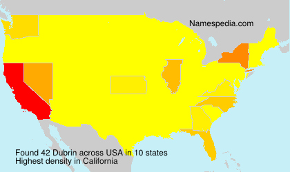 Surname Dubrin in USA