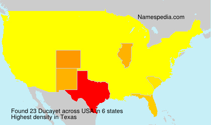 Surname Ducayet in USA