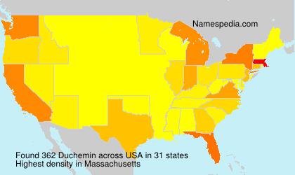Surname Duchemin in USA