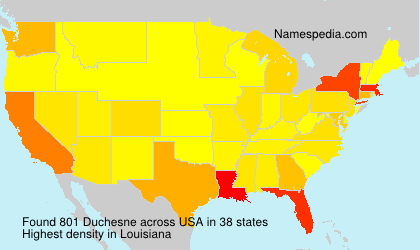 Surname Duchesne in USA