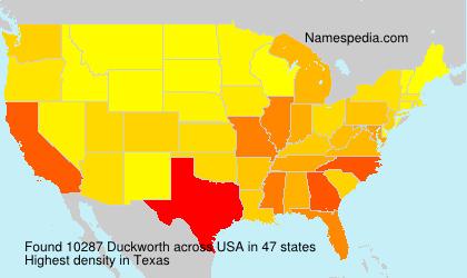 Familiennamen Duckworth - USA