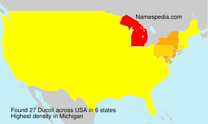 Surname Ducoli in USA
