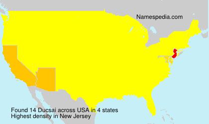 Familiennamen Ducsai - USA