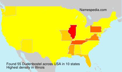 Surname Dudenbostel in USA