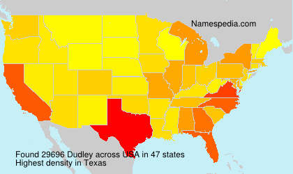Surname Dudley in USA