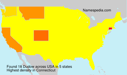 Surname Dudow in USA