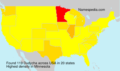 Surname Dudycha in USA