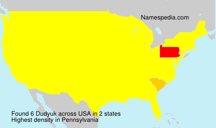 Surname Dudyuk in USA