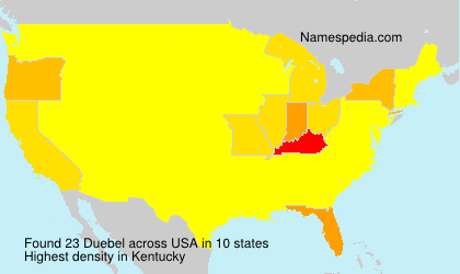 Surname Duebel in USA