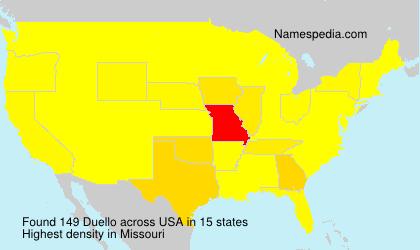 Surname Duello in USA