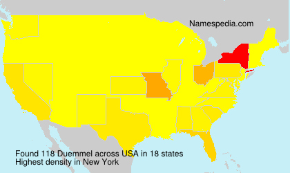 Surname Duemmel in USA