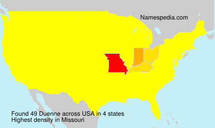 Surname Duenne in USA