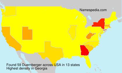 Surname Duernberger in USA
